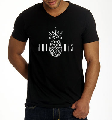 V-Neck_T-Shirt_Herren_ananas